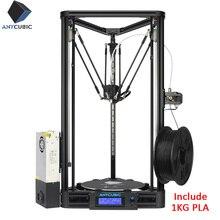 ANYCUBIC Kossel 3D yazıcı kasnağı lineer ile monte edilmiş otomatik tesviye büyük 3D baskı Impressora 3d kiti yazıcı