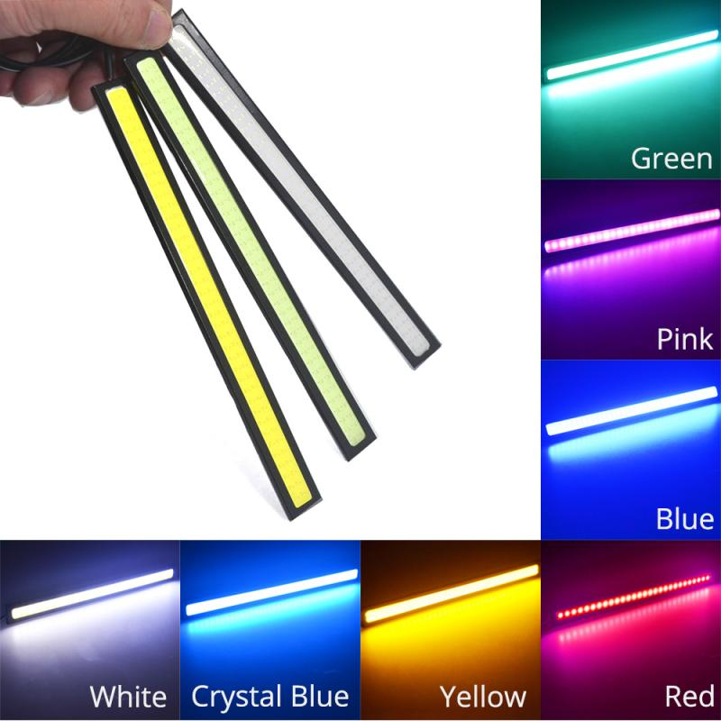 Auto COB Fog Lamp Driving Day Light Daytime Running Lights Lamp Waterproof Update Ultra Auto-styling 17cm 14cm 2Rows 76Led LED