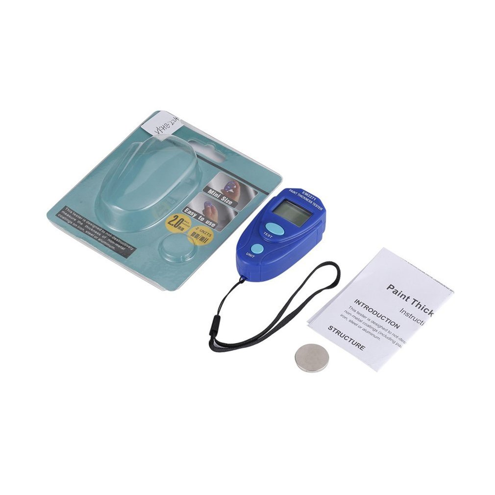 EM2271 Mini Coating Digital Painting Thickness Tester Meter Mini LCD Automotive Data Hold Car Coating Thickness Gauge