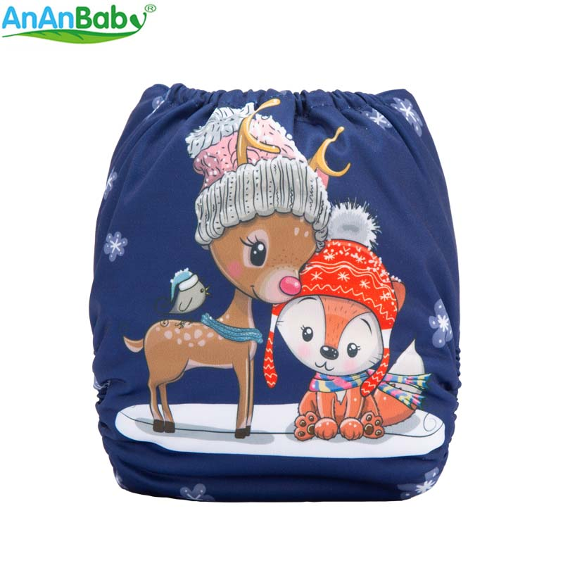 {AnAnBaby} New Arrive Halloween And Christma Prints Cloth Diaper Reusable & Washable Holiday Prints Baby Nappies