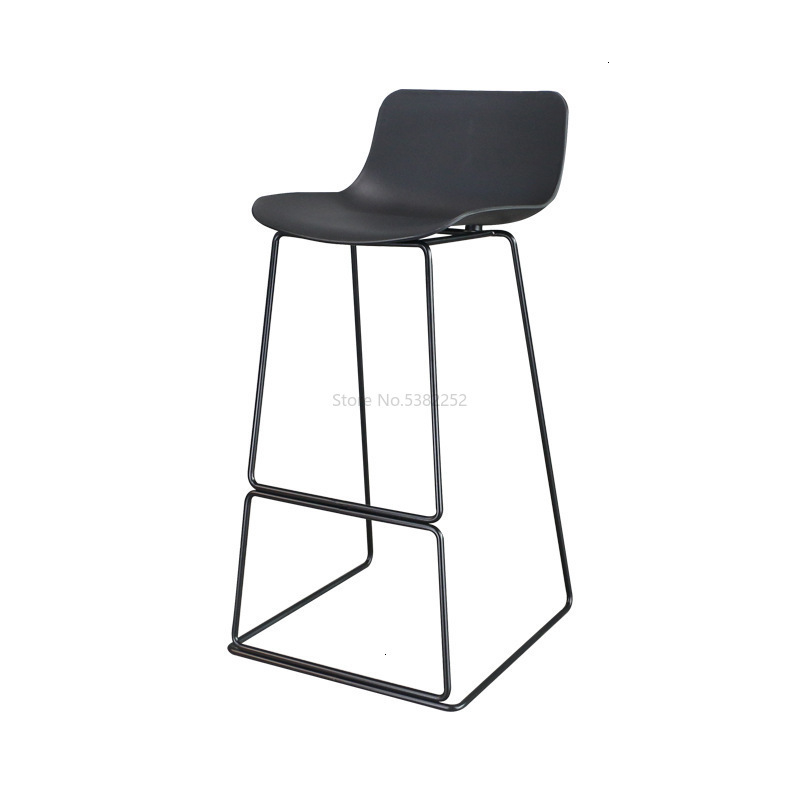 Iron Bar Chair Leisure Dessert Milk Tea Bar Chair Industrial Wind Bar Restaurant High Stool