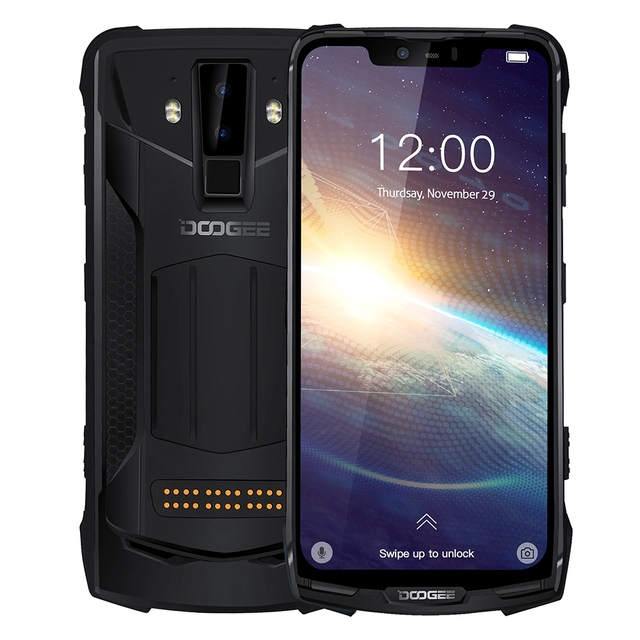 DOOGEE S90 برو IP68/IP69K هاتف محمول وعر الروبوت 9.0 الهاتف الذكي 6.18 FHD + عرض هيليو P70 الثماني النواة 6GB 128GB 16MP كاميرا
