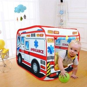 Image 3 - Детская игровая палатка, игрушечная Игровая палатка для машины скорой помощи, Игровая палатка для дома и улицы, детская игровая площадка, Игровая палатка