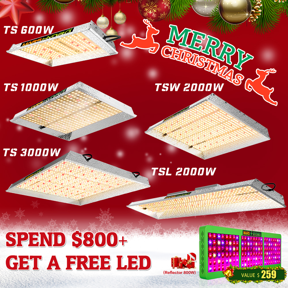 Mars Hydro TS 600W 1000W 2000W 3000W LED Grow Light Indoor Tanaman Sayuran Bunga Mengganti HPS /HID Hidroponik Spektrum Penuh