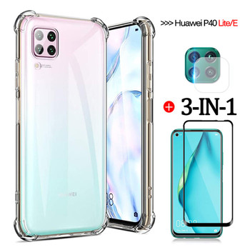 Чехол,camera glass+airbag case for huawei p40 lite e soft clear anti-shock phone cases p30 lite p40lite-e huawei p 40 lite cover фото