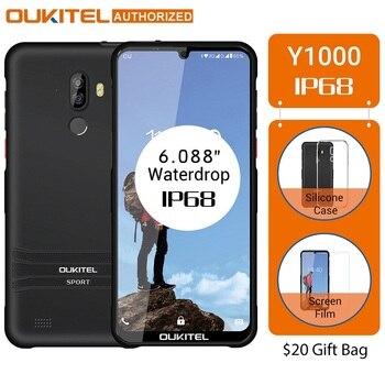 Перейти на Алиэкспресс и купить OUKITEL Y1000 6,088 дюймсмартфон Android 9,0 IP68 в виде капли воды, 19,5: 9 MT6580P 2 Гб оперативной памяти, 32 Гб встроенной памяти, 3600 мА/ч, отпечаток пальца 5 V/1A мобиль...