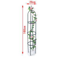 63 inch Garden Plant Trellis, Metal Trellis Flower Support for Climbing Vines and Plants, Green