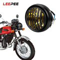 LEEPEE мотоциклетный гриль головной светильник Moto передний светильник мотоцикл ретро-Фары Светильник s круглая лампа мото скутер Винтаж DC 12V