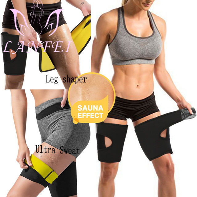 LANFEI Hot Neoprene Thermo Thighs Shaper Slimming Compression Leg Wrap Belt Ultra Sweat Sauna Thigh Trimmer Workout Gym Strap 1