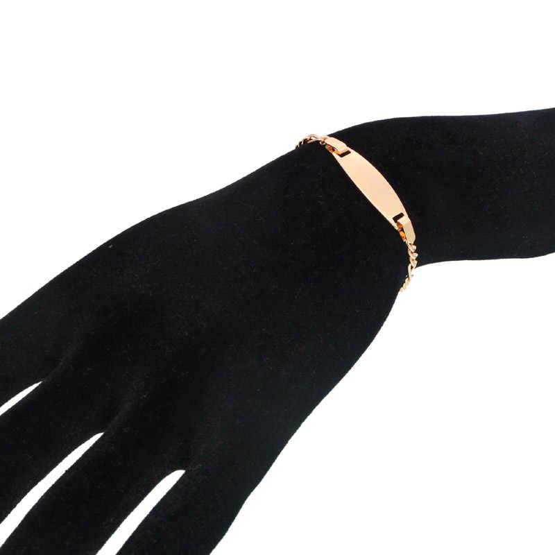 Uloveido 1 Dozen Cute Red Black White Heart Bracelets Gold Plated Adjustable Anklet Gifts for Children Kids On Christmas Y569