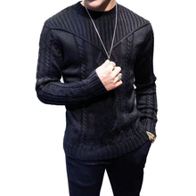 Autumn Winter Mens sweater casual pullovers knitted sweaters men clothes Fashion Sweaters for Men  Long-Sleeved