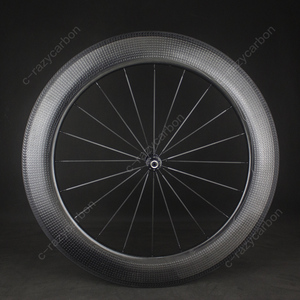Image 3 - Time Trial Dimple Wheels Aerodynamic Front And Rear 80mm 2 Year Warranty Clincher/Tubeless Road Bike Carbon Wheel 700C Road Bike
