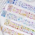 Band aufkleber ästhetischen Klebstoff Diy Aufkleber individuelle aufkleber scrapbooking Tagebuch Album Schreibwaren aufkleber blume multicolor