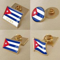 Герб Кубы кубинские карта Национальный флаг Эмблема с национальным цветочным брошь значки нагрудные знаки