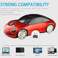 2.4G Mini Wireless Optical Mouse Car Styling USB Bluetooth Receiving Wireless Mouse with Low Battery Indicator for PC Laptop