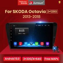 Junsun radio automóvil Control de voz AI 2+32GB Android 10 para For SKODA Octavia 2013-2018 A7, Radio, Reproductor de video multimedia, Navegación GPS, 2 din Radio de pantalla Junsun compatible con RDS y Carplay