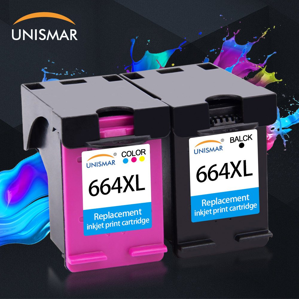Unisamr 664XL Ink Cartridges Replacement For HP664 HP 664 XL DeskJet 1115 2135 3635 1118 2138 3636 3638 4536 4676 5275 Printers