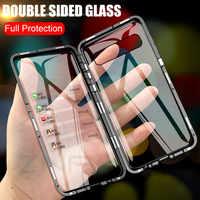 ZNP magnético Metal de la caja del teléfono para Samsung S10 S9 S8 más S10E de doble cara de vidrio imán funda para Galaxy Note 9 8 10 Plus