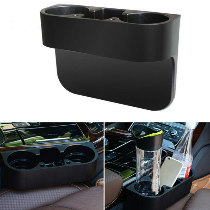 Car Seat Crevice Storage Box Cup Drink Holder Organizer Seat Gap Storage Box Multi-function Water Cup Holder Stowing Tidying