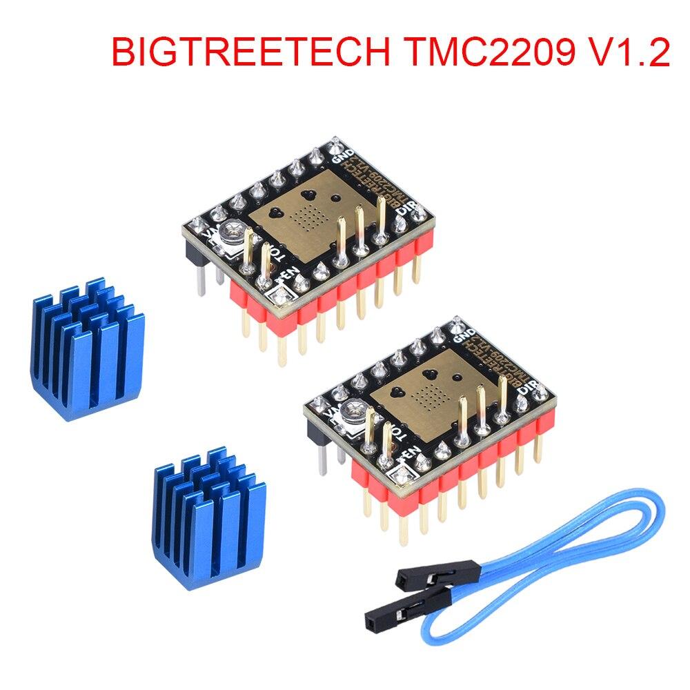 Bigtreetech tmc2209 v1.2 motor deslizante driver uart vs tmc2208 tmc2130 a4988 peças de impressora 3d para ender 3 skr v1.3 v1.4 mini e3
