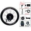Kit de Conversion ebike 48V 1000W 1500W moyeu moteur roue LCD8H LCD3 vélo électrique vélo e Kit de Conversion de vélo avec contrôleur KT