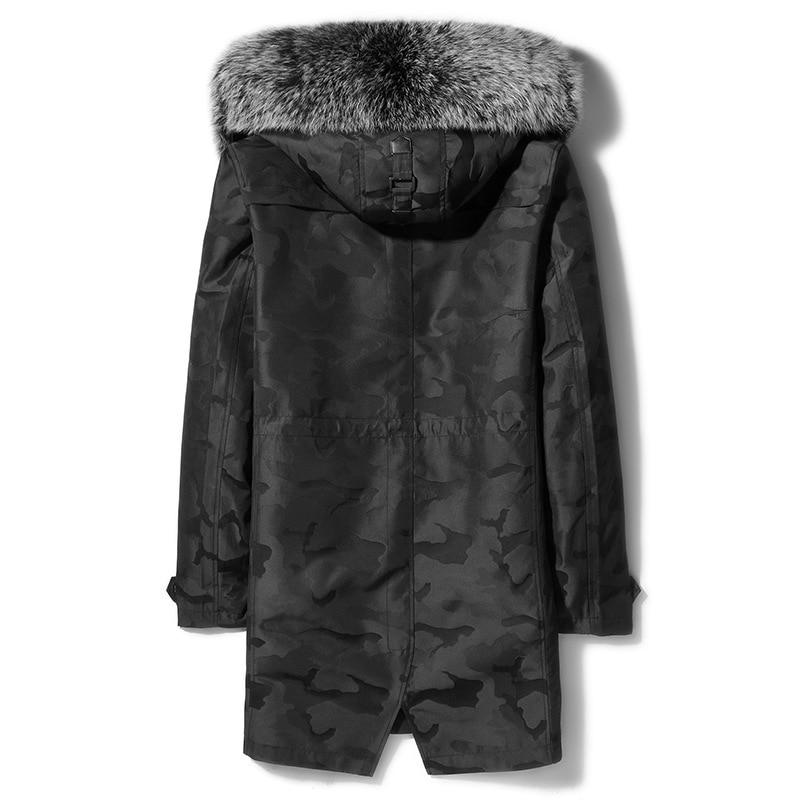Fur Parka Winter Coat Men Long Jacket Real Raccon Fur Collar Mink Jacket Mink Fur Liner Warm Parkas 82007SD YY311