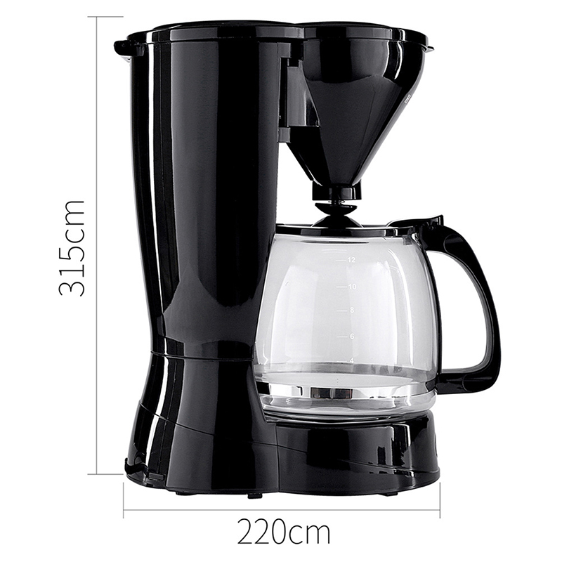 Electric Coffee Makers Smart Drip Coffee Maker Brew Machine With Removable Filter For Office Home LV0329