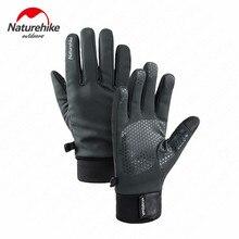 Naturehike Зимние перчатки для велоспорта с сенсорным экраном велосипедные перчатки для спорта на открытом воздухе противоскользящие ветрозащитные перчатки для катания на лыжах полный палец