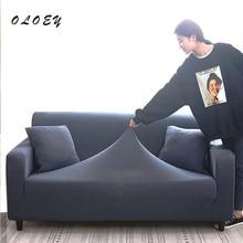 4/3/2/1 Seat Elastic Spandex Sofa Cover Universal Solid Color Stretch Couch Slipcover funda sofa elastica 4 plazas plaid canape