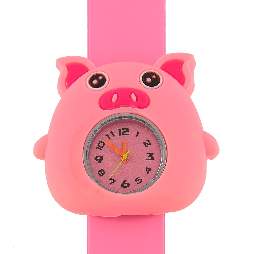 New Style Cute Adorable Cartoon Gel Unisex Children Quartz Kids Strap Wrist Watch Cute Unique Pattern Gift TY53