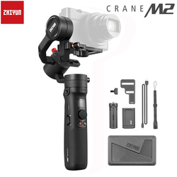 Original Zhiyun CRANE-M2 Compact 3-axis Handheld Gimbal Stabilizer+Extension Pole Stick Rod for Sony Canon GoPro Hero Smartphone