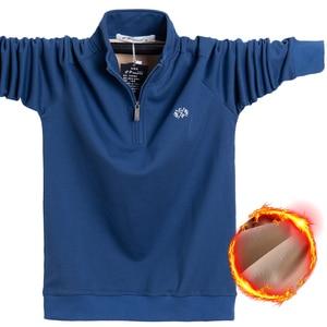Image 1 - 2020 Winter Fleece Polo Shirt Men Plus Size 4XL 5XL 6XL Polo Men Brand High Quality Fat Guy Clothes Thick Warm Cotton Polo Man