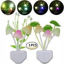 夜の光 7 変色夕暮れにセンサー Led ナイトライト花キノコランプの寝室 Babyroom のためのランプギフト