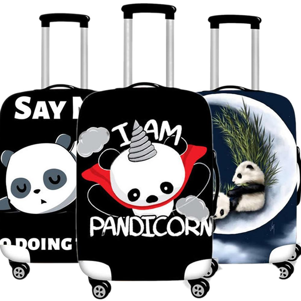 Cute Animal Panda Luggage Case Elastic Protective Cover Travel Suitcases Dust Cover Accessories Organizadores 18 To 32 Inches