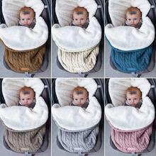 цена на Winter Baby Sleeping Bag Thick Cotton Warm Kids Bedding Newborn Stroller Blanket Infant Stroller Sleeping Bag