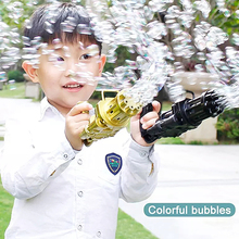 Kids Bubble Gun Toys Gatling Automatic Bubble Machine Magic soap water Summer Toy Wedding Supplies Gift Kids Indoor Outdoor Toys