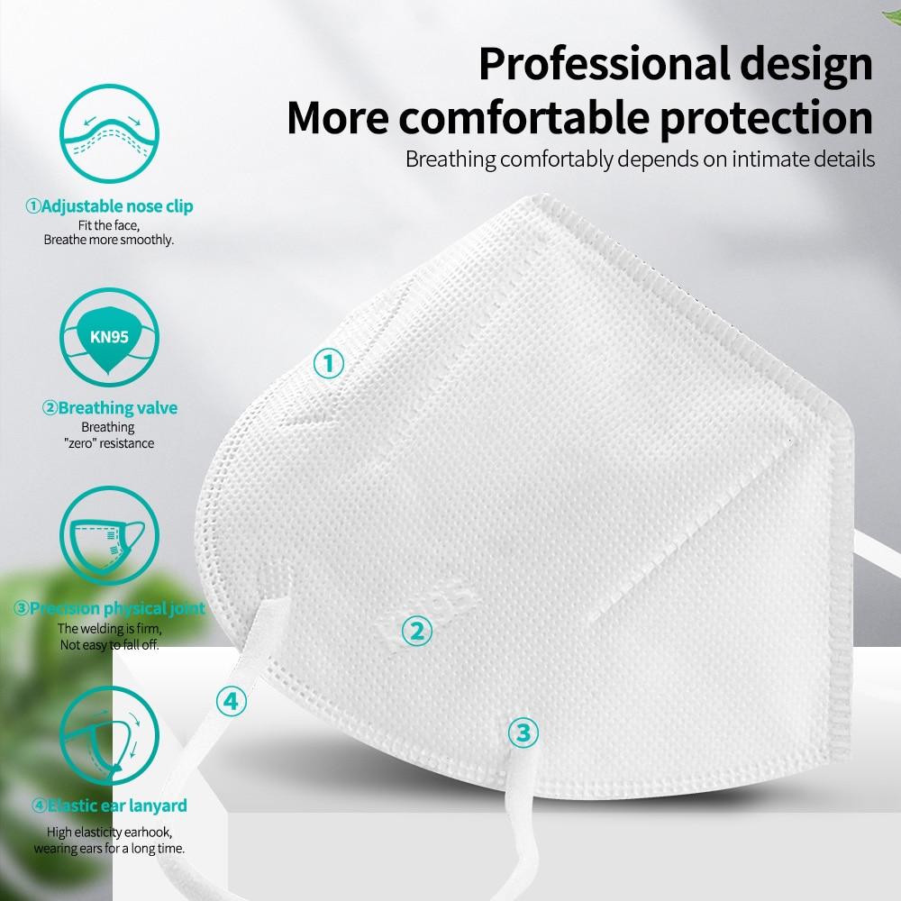 FFP2 masque KN95 filtre ffp2masque 5 couches protecteur couvrant masque facial masques lavables FFP2 fp2 mascarillas fpp2 mascararill FFPP2 5