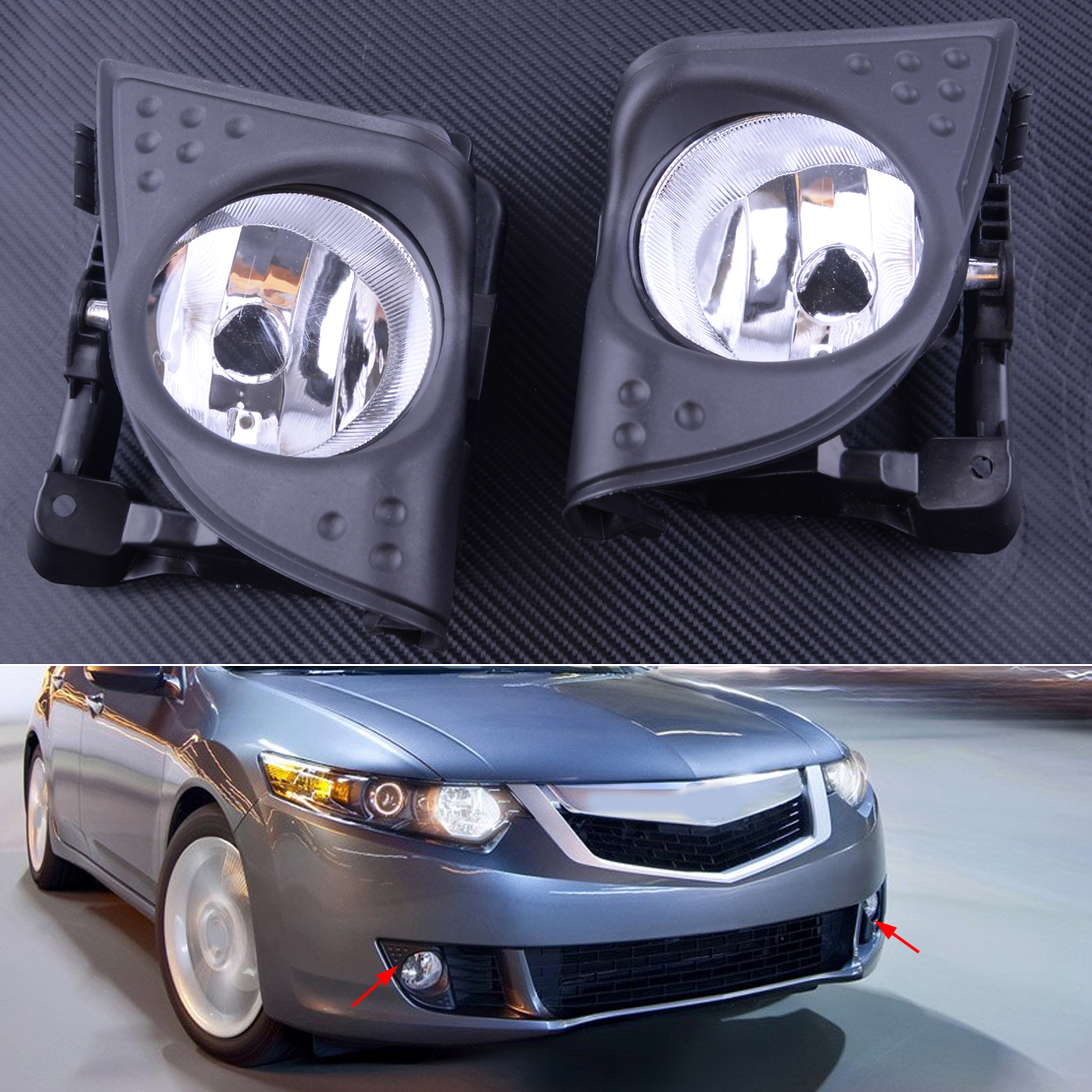 Nouveau 1 paire voiture gauche droite avant brouillard conduite lampe couvercle garniture cadre noir 33900TL0A01 33950TL0A01 Fit pour Acura TSX 2009 2010