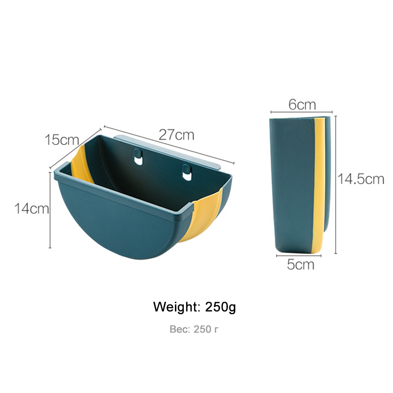 large foldable kitchen trash plastic storage box organizer for kitchen accessories storage basket kitchen storage box/rack Shelf 4