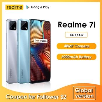 realme 7i Newest Smartphones 6.5 Inch HD Helio G85 Octa Core 4GB 64GB 6000mAh 48MP AI Quad Camera Android 10 LTE Cell phones 1