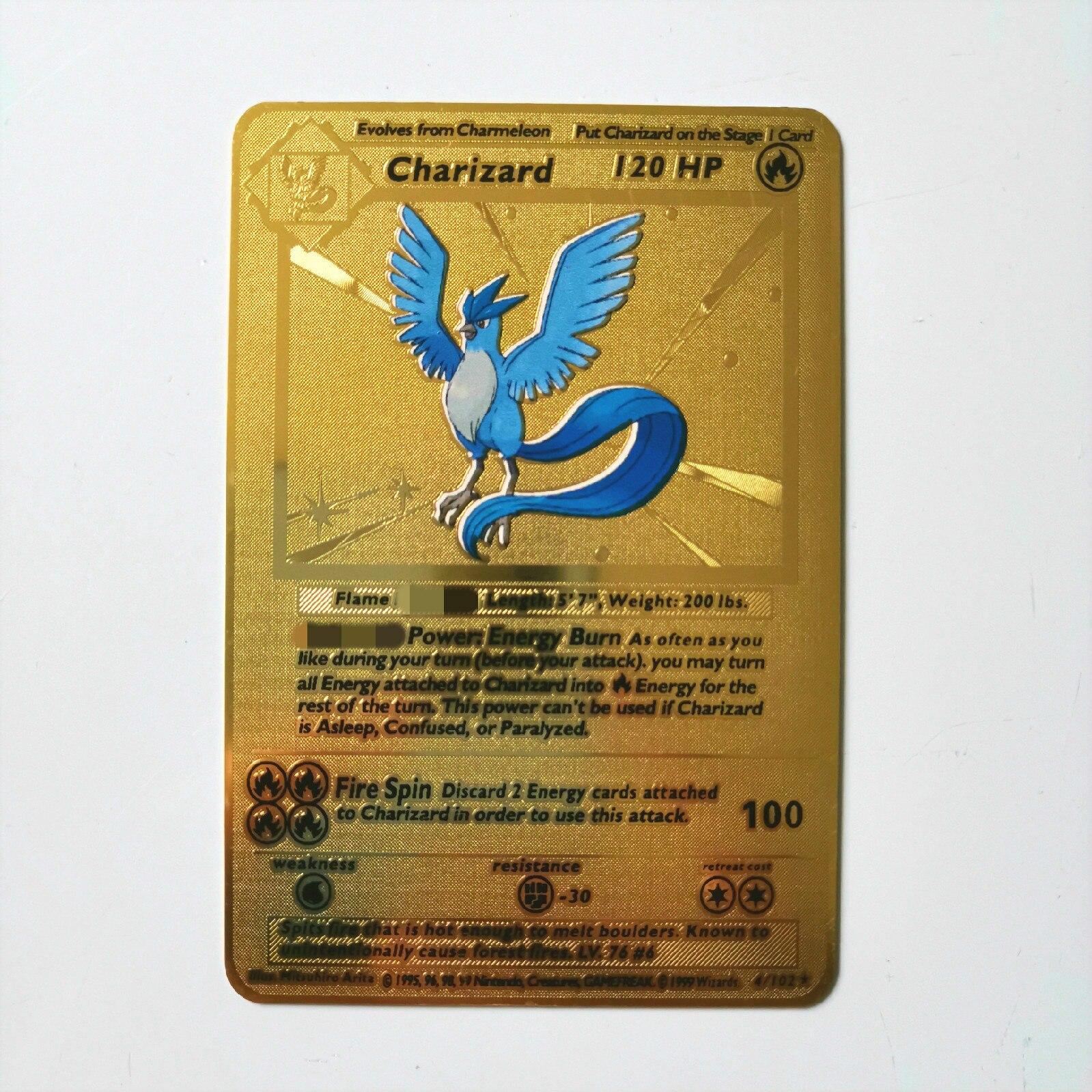 Dragon Ball золотая металлическая карточка супер игра Коллекция аниме-открытки игра детская игрушка - Цвет: M