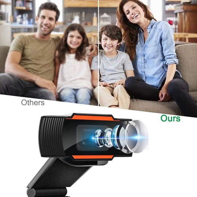 Webcam 1080P 720P 480P Full HD Web Camera Built-in Microphone USB Plug Web Cam For PC Computer Mac Laptop Desktop YouTube Skype 3