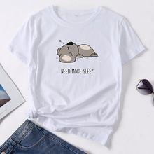 Милая женская футболка с графическим принтом коала модная уличная