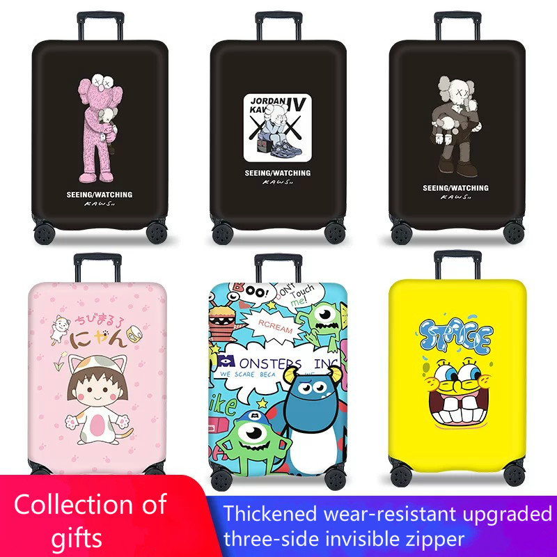 Elastic Luggage Protective Case Trolley Travel Case Cover Dust Cover Bag 20/24/28 Inch / 30 Inch Thick Wear-resistant