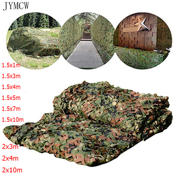 1.5x3m /2x10m Hunting Military Camouflage Nets Woodland Army training Camo netting Car Covers Tent Shade Camping Sun Shelter 1