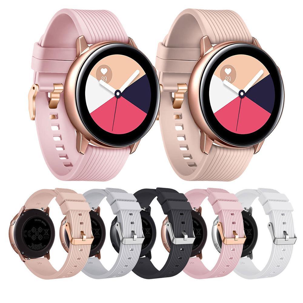 20Mm 22Mm Silicone Horlogeband Voor Samsung Galaxy Horloge 46Mm 42Mm Actieve 2 Gear S3 S2 Band armband Voor Amazfit Bip Horloge Band
