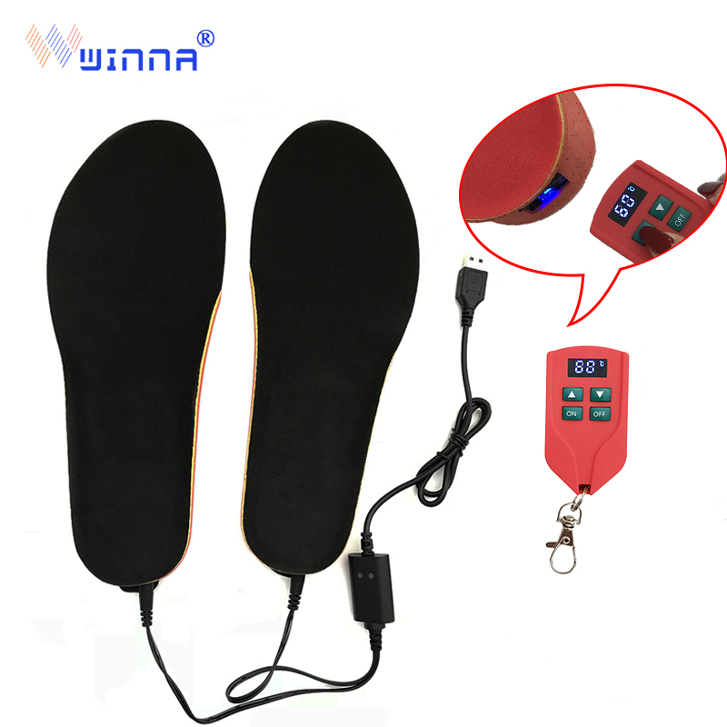New Arrival Heating Insoles With Wireless Remote Control Type Battery Powered Women Men Shoes Ski Insoles Size EUR 35-46#2000MAH