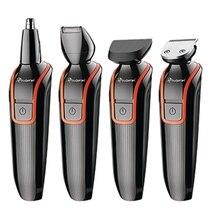 6in1 set electric hair clipper rechargeable hair trimmer precision body shaver trimer beard mustache facial hair cutting machine