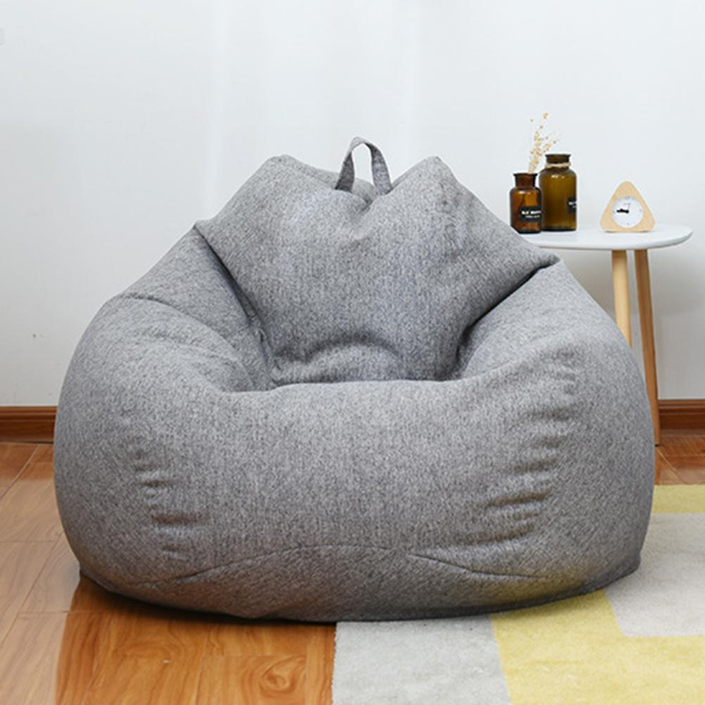 Us 19 53 46 Off Lazy Sofa Cover Bean Bag Lounger Chair Seat Living Room Furniture Without Filler Beanbag Bed Pouf Puff Couch Tatami On