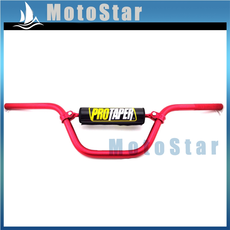 "CNC RED Alloy Handle Bar Pad Handle Grips 22mm 7//8/"" Dirt Pit ATV Quad Bike"